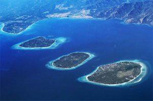 Gili trawangan, gili meno, gili air (Lombok NTB Indonesia)