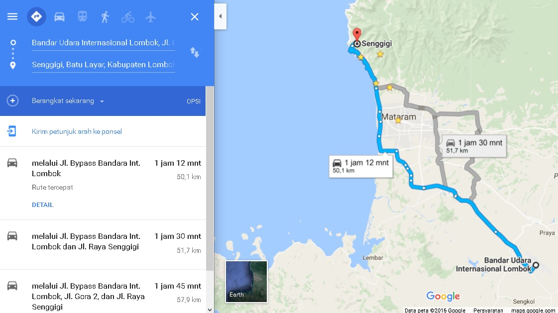 jarak-bandara-lombok-ke-senggigi